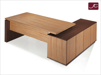 Designer Schreibtisch Gela Zebrano Walnuss