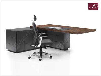 Design Chef Schreibtisch Imola mit Sideboard in Zebrano
