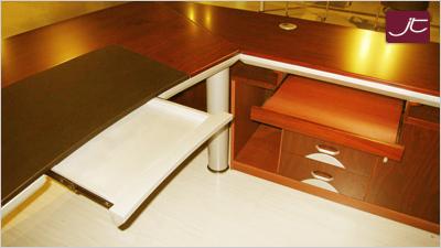 Designer Chef Schreibtisch Teramo Walnuss
