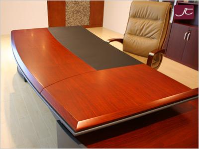 Designer Chef-Schreibtisch Bergamo - Tischplatte - im Online-Shop Jourtym.de